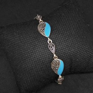 925 sterling silver oxides ladies bracelet