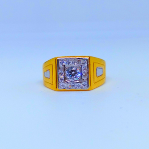22 kt 916 hallmark fancy square diamond gents