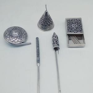 Silver ethnic design firecrackers
