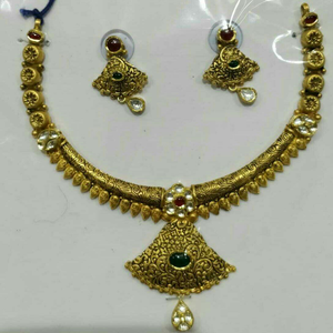 22kt/916 antique gold ladies wedding necklace