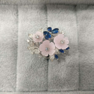 92.5 sterling silver beautiful flower design
