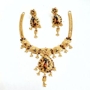 916 gold kalkati necklace set mga - gn002
