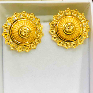 22kt plain gold attractive ladies earring