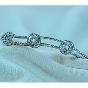 916 gold diamond bracelet  lb1-75