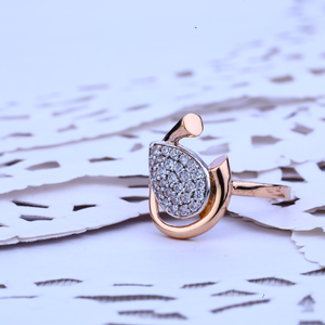 Ladies 18k diamond rose gold ring-rlr149