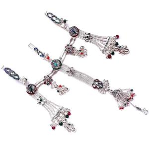 3 clips peacock silver juda mga - jus0059