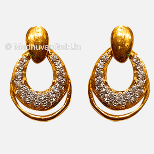 916 gold attractive diamond earrings