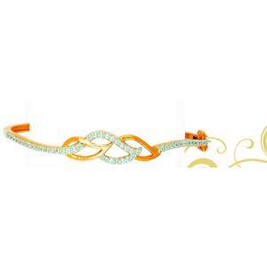 22k/916 gold designer ladies leaf shape brace