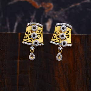 Ladies gold earrings-lfe98