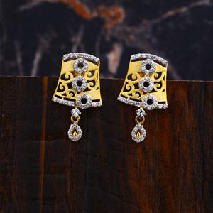 Ladies gold earrings-lfe98