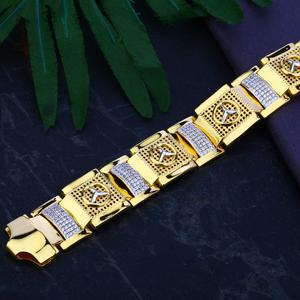 Mens gold bracelet-mcb38