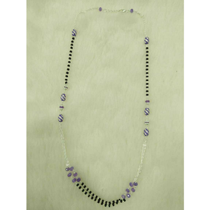 92.5 sterling silver black & purple pearl