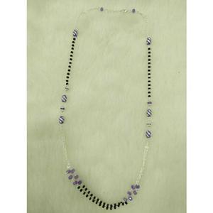 92.5 sterling silver black & purple pearl