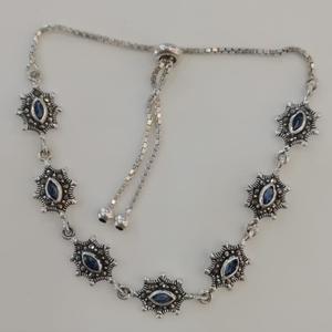 Sterling silver ladies loose bracelet