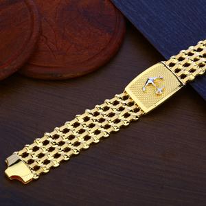 Mens gold bracelet-mpb93