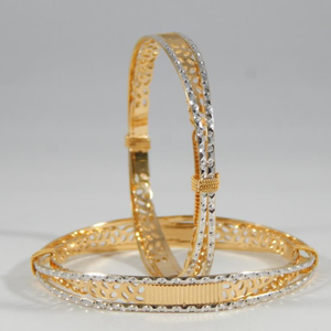 22k gold cnc cut degine bangles for women