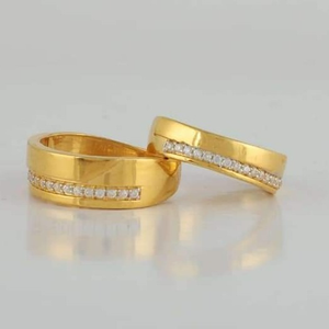 22 carat gold diamond couple fancy ring rh_cr