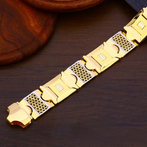 916 gold mens hallmark bracelet mpb210