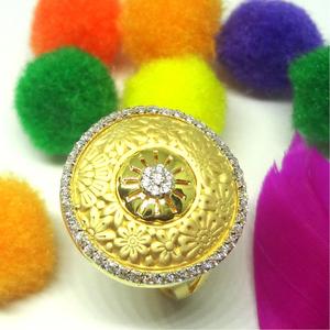 916 gold cz diamond ladies ring