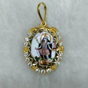 22kt gold designer mahakali pendant
