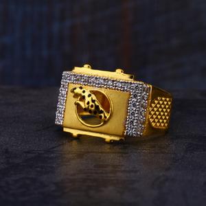 22ct gold mens jaguar design ring mr547