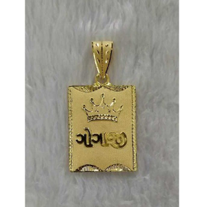 Gold gents pendant