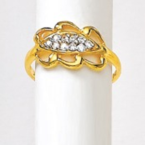 916 gold diamond ladies ring lrd-3256