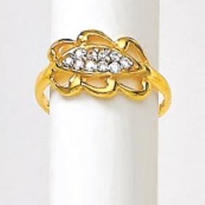 916 gold diamond ladies ring lrd-3256