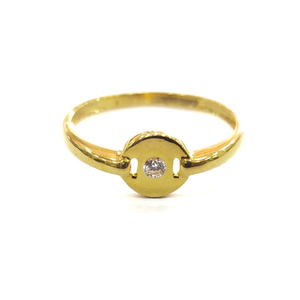 916 gold certified fancy ladies daimond ring