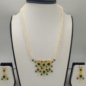 Green cz and pearls timmaniya pendentset wi