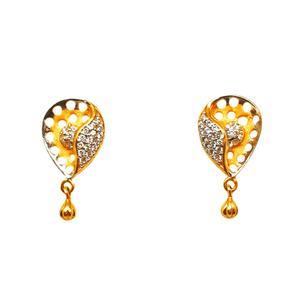22k gold modern earrings mga - btg0106