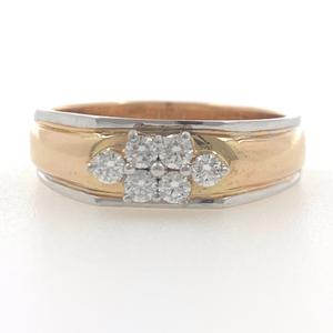 18kt / 750 rose gold fancy engagement 6 diamo