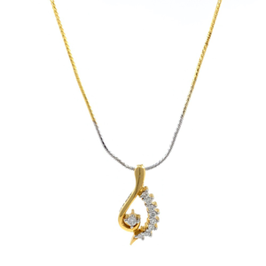 Linda diamond pendant in yellow gold 7shp59