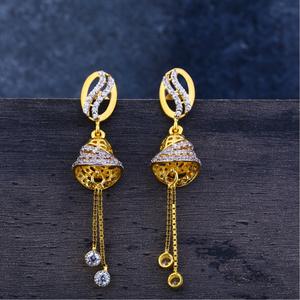 Ladies 22k gold jummar earrings -lje127