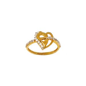 22k gold heart shaped ring mga - lrg0135