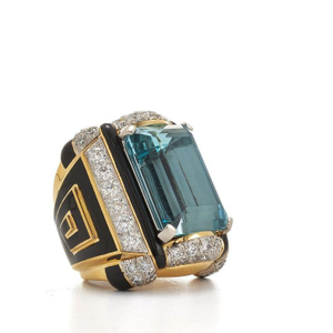 916 cz blue stone ring