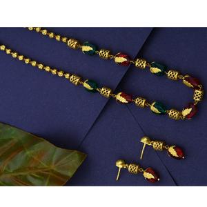 916 cz hallmark gold traditional mani moti ma