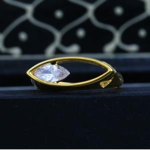 22k cz gold ladies solitaire diamond ring jjl