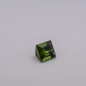 4.010ct square green tourmaline