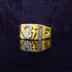 Om god 916 exclusive mens gold ring-mgr53