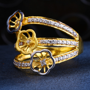 22ct gold cz fancy ladies ring lr213