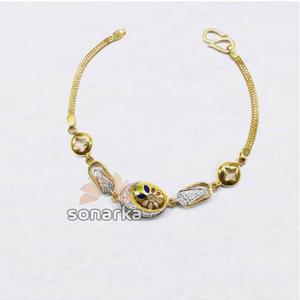 916 designer plain gold colourful beaded ladi