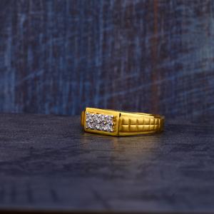Mens fancy gold ring-mr269