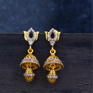 Ladies 916 gold jummar earrings -lje119
