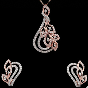 18kt rose gold special occasions pendant set