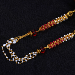 Ladies moti gold 22k antique chainmala-ac86