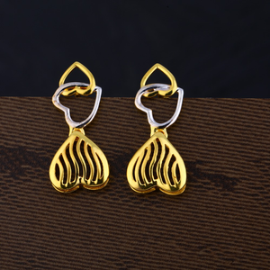 Ladies 916 gold plain earring -lpe135