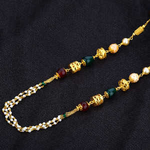 Gold 916 moti chain ladies mala-ac16
