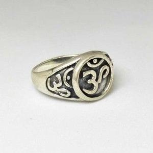 925 sterling silver oxides om gents ring