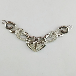 92.5 sterling silver cz mangalsutra pendant m